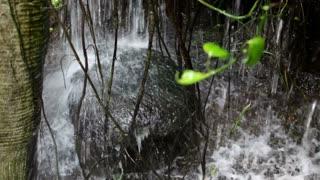 Water Splashing Down onto Rock