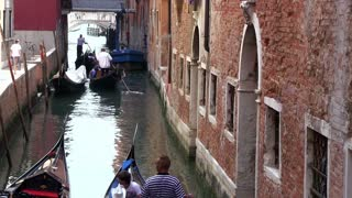 Water ways of Venice Italy