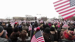 Waving flags at 2013 presidential inauguration