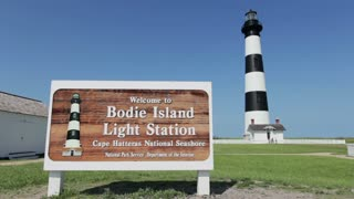 Welcome to Bodie Island Light Station sign