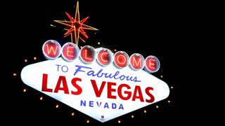 Welcome to Las Vegas flashing Sign