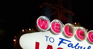 Welcome to Las Vegas sign pan 4k