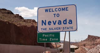 Welcome to Nevada sign 4k