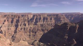West Rim of Grand Canyon wide angle establishing shot 4k