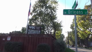 Westboro Baptist Church on SW Orleans Street establishing shot 4k