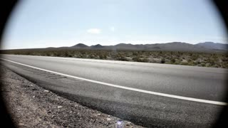 Wide angle of Desert Highway Road