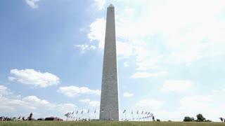 Wide angle of Washington Monument