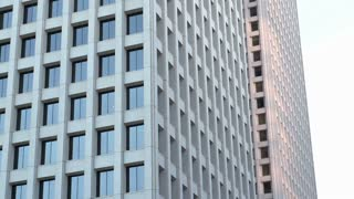 Windows of large office building