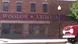 Winslow Arizona painted wall