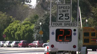 Your Speed Display on Road