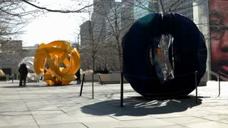 Yvonne Domenge Interconnected sculpture in Chicago