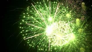 Beautiful fireworks in the night sky