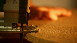 Carpentry - cutting wood jigsaw