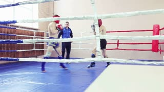 Fight in the boxing ring
