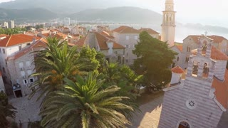 Old town of Budva, Montenegro - aerial photography