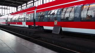 The train at the station in Berlin
