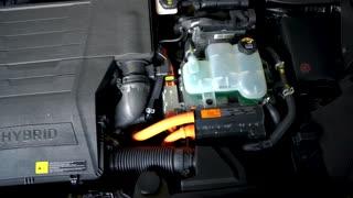Car hybrid engine detail