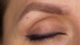 Macro Close-up eye blinking