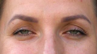 Macro Close-up eyes blinking