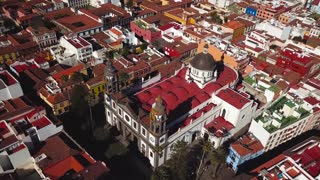 View from the height on Cathedral and townscape San Cristobal De La Laguna, Tenerife, Canary Islands, Spain