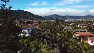 View from the height on townscape San Cristobal De La Laguna, Tenerife, Canary Islands, Spain