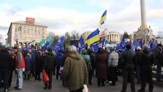 KIEV, UKRAINE - NOVEMBER 25: Protest meeting against new tax codex in Independence square (Maidan Nezalezhnosti), November, 25, 2010 in Kiev, Ukraine.