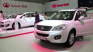 "KIEV, UKRAINE, MAY 27, 2012: Great Wall Haval H6 at yearly automotive-show ""SIA 2011"" in Kiev, Ukraine."