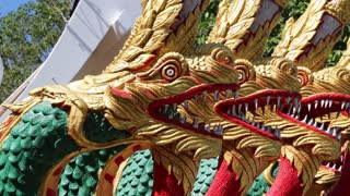 Dragons near entrance to Big Golden Buddha statue on Pratumnak Hill in Pattaya, Thailand