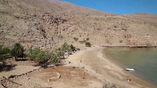 Sultanate of Oman, Musandam, Gulf of Oman, ancient Village of Haffa. Oman - arab country in southeastern coast of the Arabian Peninsula. Musandam - governorate of Oman, located on Musandam peninsula