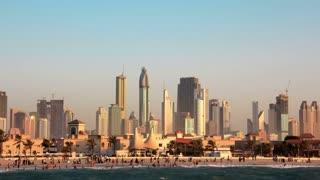 4K (4096x2304) Timelapse: Sand storm in Dubai downtown, Burj Khalifa, United Arab Emirates