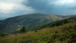 4K Timelapse of rainclouds in mountains (ultra-high definition (UHD, 4096x2304)). Video without birds and defects
