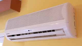 Air conditioner video stock footage
