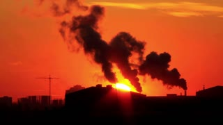 Air pollution video stock footage