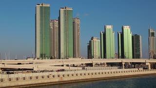 Al reem island in Abu Dhabi - capital and 2nd most populous city in United Arab Emirates after Dubai, and also capital of Abu Dhabi emirate. Abu Dhabi emirate is the largest of seven emirates in UAE