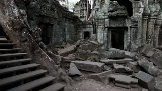 Angkor Thom temple complex in Siem Reap in Cambodia