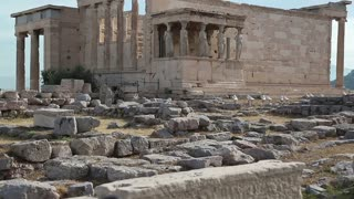 Antique temple in Athenian Acropolis in Greece