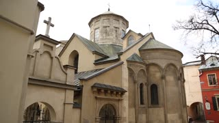 Armenian Cathedral of the Assumption of Mary in old town of Lviv, Western Ukraine