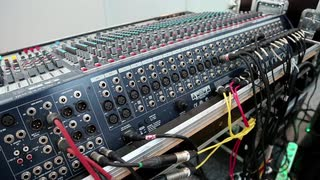 Audio production console sockets