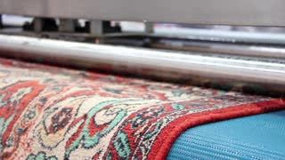 Automatic washing and cleaning of carpets