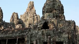 Bayon - ancient Khmer temple in Angkor Thom temple complex in Cambodia