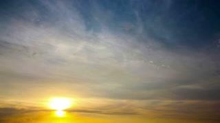 Beautiful summer sunset timelapse