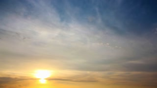 Beautiful summer sunset. Video without birds and defects