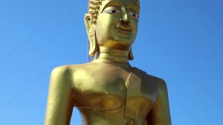 Big Golden Buddha statue on Pratumnak Hill in Pattaya, Thailand