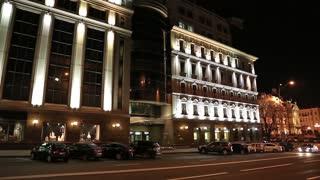 Building with night illumination