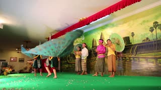 CAMBODIA, SIEM REAP, APRIL 2, 2014: Cambodian theatre in local restaurant in Siem Reap city