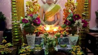 CAMBODIA, SIEM REAP, APRIL 3, 2014: Buddhist statue in Cambodia