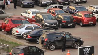 Car park video stock footage