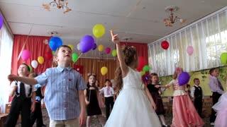 Children in kindergarten. Children at graduation ball in kindergarten