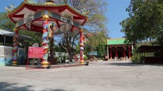 Chinese gazebo and buddhist temple on Pratumnak Hill in Pattaya, Thailand