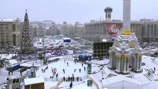 Christmas tree on Independence square, Kiev, Ukraine